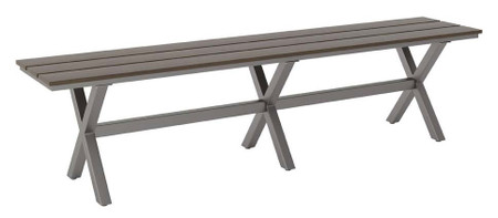 Zuo Modern Bodega Bench Industrial Gray & Brown