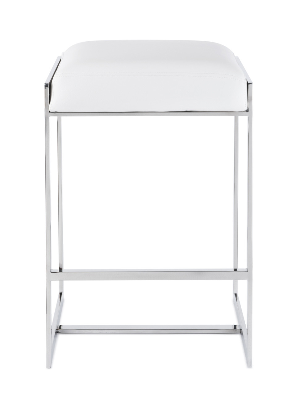 Peachy Palmer Backless Counter Stool Polished Stainless Steel Machost Co Dining Chair Design Ideas Machostcouk