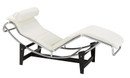 Corbusier LC4 Chaise - White Leather