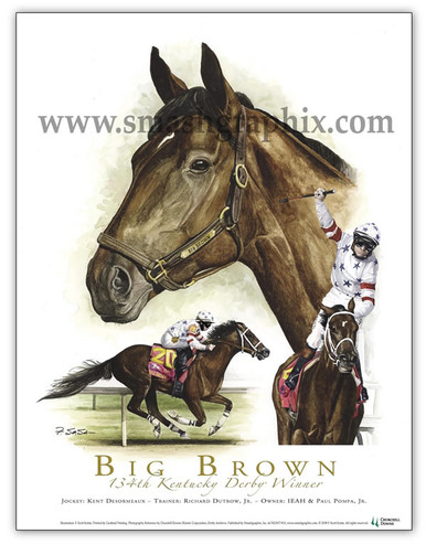 Big Brown famous Kentucky Derby Winner