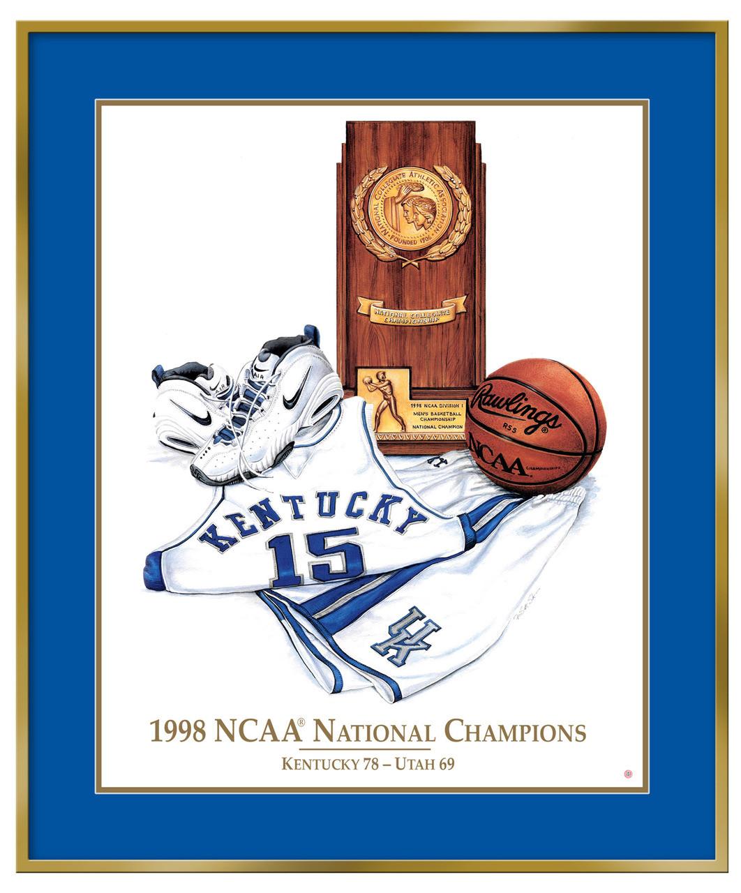photo relating to Printable Uk Basketball Schedule titled Kentucky 1998 NCAA Champions