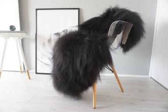 Black / Brown Single Icelandic sheepskin rug