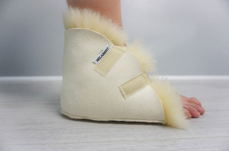 Genuine Natural Medical Sheepskin - Super Soft Wool - Antibacterial - HEEL PROTECTOR
