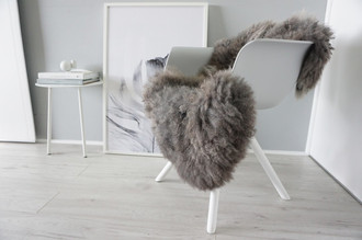 Genuine - Rare Breed Scandinavian Pelssau Sheepskin Rug - Soft Silky Wool - Beige / Silver / Grey / Ash Mix - SS 34