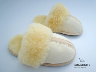 Genuine Medical Sheepskin - Ladies Home Slipper / Mule – Fully Sheepskin Lined Inside - Soft Sole