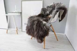 Wonderful Genuine Natural Sheepskin Rug - Soft Thick Wool - Brown | Black | White | Ash Mix - SN 148