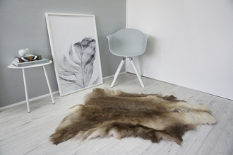 Genuine Super Soft - Extra Large Scandinavian Reindeer Skin Rug  eRE 22