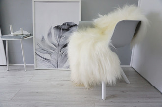 Genuine Icelandic Sheepskin Rug - Creamy White | Beige Mix - Soft Touch Long Wool - SI 308