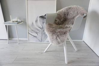 Genuine Australian Single Sheepskin Rug - Super Soft Silky Silver Wool