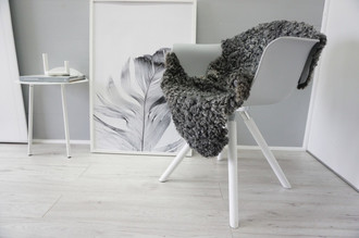 Genuine - Exclusive Swedish Gotland Sheepskin Rug - Soft Curly Wool - Natural Grey | Silver | Ash Mix - SG 157