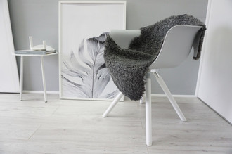 Genuine - Exclusive Swedish Gotland Sheepskin Rug - Soft Curly Wool - Natural Grey | Silver | Ash Mix - SG 158