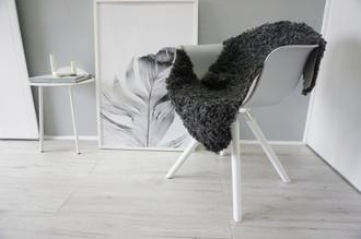 Genuine - Exclusive Swedish Gotland Sheepskin Rug - Soft Curly Wool - Natural Grey | Silver | Ash Mix - SG 174