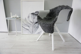 Genuine - Exclusive Swedish Gotland Sheepskin Rug - Soft Curly Wool - Natural Grey | Silver | Ash Mix - SG 175