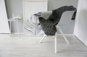Genuine - Exclusive Swedish Gotland Sheepskin Rug - Soft Curly Wool - Natural Grey | Silver | Ash Mix - SG 178