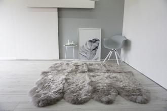 Genuine Australian Octo (8) Sheepskin Rug - Super Soft Silky Silver Wool