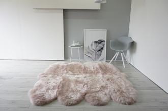 Genuine Australian Octo (8) Sheepskin Rug - Super Soft Silky Blush Pink Wool