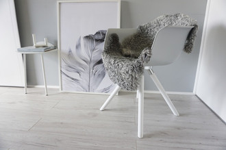 Genuine - Exclusive Swedish Gotland Sheepskin Rug - Soft Curly Wool - Natural Grey | Silver | Ash Mix - SG 182