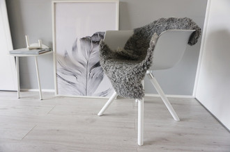 Genuine - Exclusive Swedish Gotland Sheepskin Rug - Soft Curly Wool - Natural Grey | Silver | Ash Mix - SG 187