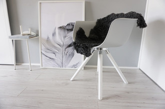 Genuine - Exclusive Swedish Gotland Sheepskin Rug - Soft Curly Wool - Natural Grey | Silver | Ash Mix - SG 188