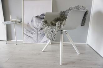 Genuine - Exclusive Swedish Gotland Sheepskin Rug - Soft Curly Wool - Natural Grey | Silver | Ash Mix - SG 189