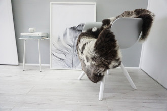 Genuine Natural Single Sheepskin Rug - Soft Thick Wool - Cream White | Grey | Brown mix - SN 276