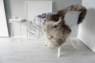 Genuine Natural Single Sheepskin Rug - Soft Thick Wool - Grey | Brown | Ash Mix mix - SN 290