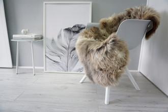 Genuine Natural Single Sheepskin Rug - Soft Thick Wool - Grey | Latte | Beige | Silver | Ash Mix - SN 299