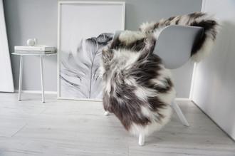 Genuine Natural Single Sheepskin Rug - Soft Thick Wool - Brown   Grey   White Mix - SN 304