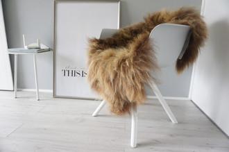 Genuine Icelandic Sheepskin Rug - Rusty brown Mix - Super Soft Touch Long Wool - SI 386