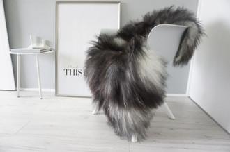 Genuine Icelandic Sheepskin Rug - Blacky Brown | Silver | Ash Mix - Super Soft Touch Long Wool - SI 405