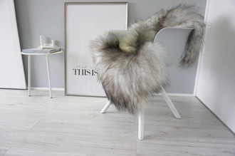Genuine Icelandic Sheepskin Rug - Silver | Grey | Ash Mix - Super Soft Touch Long Wool - SI 428