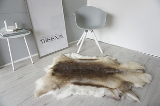 Genuine Super Soft - Extra Large Scandinavian Reindeer Skin Rug  RE 353
