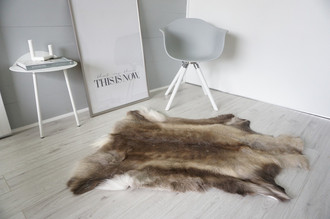 Genuine Super Soft - Extra Large Scandinavian Reindeer Skin Rug  RE 370