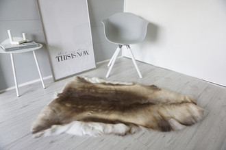 Genuine Super Soft - Extra Large Scandinavian Reindeer Skin Rug  RE 376