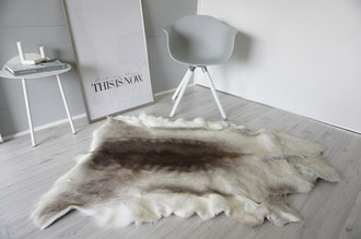 Genuine Super Soft - Extra Large Scandinavian Reindeer Skin Rug  RE 377