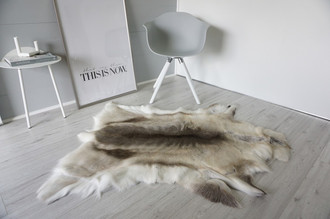 Genuine Super Soft - Extra Large Scandinavian Reindeer Skin Rug  RE 378