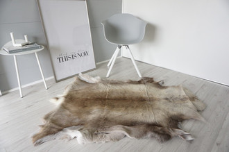 Genuine Super Soft - Extra Large Scandinavian Reindeer Skin Rug  RE 383