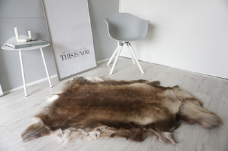 Genuine Super Soft - Extra Large Scandinavian Reindeer Skin Rug  RE 385