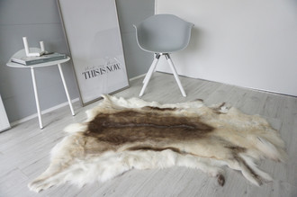 Genuine Super Soft - Extra Large Scandinavian Reindeer Skin Rug  eRE 1