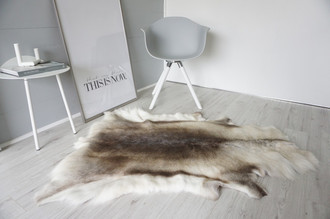 Genuine Super Soft - Extra Large Scandinavian Reindeer Skin Rug  eRE 11