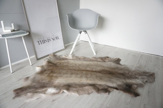 Genuine Super Soft - Extra Large Scandinavian Reindeer Skin Rug  eRE 15