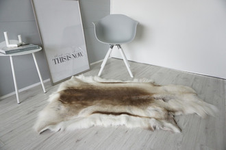 Genuine Super Soft - Extra Large Scandinavian Reindeer Skin Rug  eRE 17