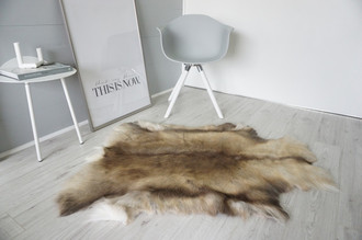 Genuine Super Soft - Extra Large Scandinavian Reindeer Skin Rug  eRE 18
