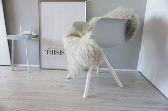 Genuine - Rare Breed Scandinavian Pelssau Sheepskin Rug - Extremely Soft Silky Wool - Silver | Grey | Ash | Brown Mix - SS 106