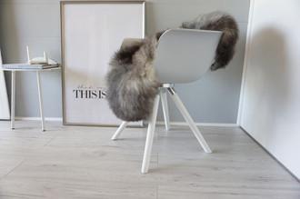 Genuine - Rare Breed Scandinavian Pelssau Sheepskin Rug - Extremely Soft Silky Wool - Silver | Grey | Ash | Brown Mix - SS 111