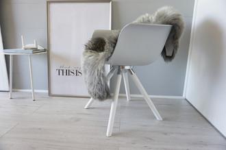 Genuine - Rare Breed Scandinavian Pelssau Sheepskin Rug - Extremely Soft Silky Wool - Silver | Grey | Ash | Brown Mix - SS 112