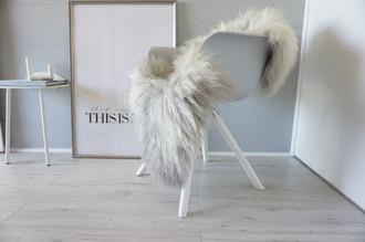 Genuine - Rare Breed Scandinavian Pelssau Sheepskin Rug - Extremely Soft Silky Wool - Silver | Grey | Ash | Brown Mix - SS 117