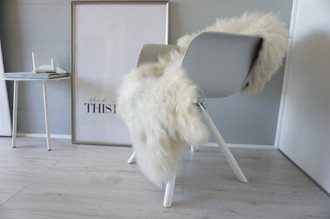 Genuine - Rare Breed Scandinavian Pelssau Sheepskin Rug - Extremely Soft Silky Wool - Silver | Grey | Ash | Brown Mix - SS 118