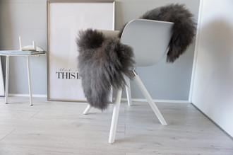 Genuine - Rare Breed Scandinavian Pelssau Sheepskin Rug - Extremely Soft Silky Wool - Silver | Grey | Ash | Brown Mix - SS 136