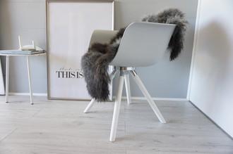 Genuine - Rare Breed Scandinavian Pelssau Sheepskin Rug - Extremely Soft Silky Wool - Silver | Grey | Ash | Brown Mix - SS 137